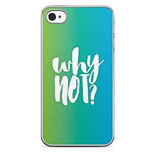 Inspirational iPhone 4s Tranparent Edge Case - Why not