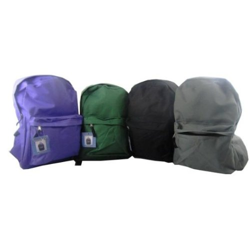Back Pack - 15'' - Assorted Colors Case Pack 12 by USA