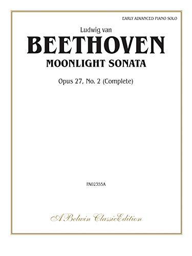Moonlight Sonata, Op. 27, No. 2 (Complete) (Belwin Classic Library) (Sheet Moonlight Music Sonata)