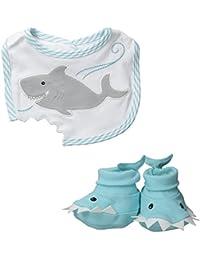 Bib and Booties Gift Set , Chomp and Stomp Shark