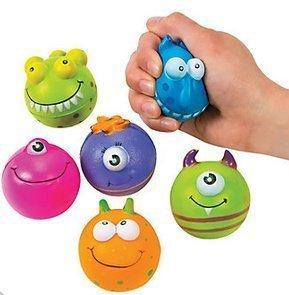Monster Character Stress Balls(1 Dozen) by Oriental Trading -