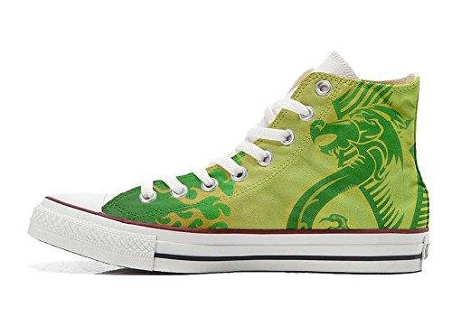 fondo Customized Star verde dragón zapatos amarillo Artesano Producto All Converse personalizados BpOEz5qxEw