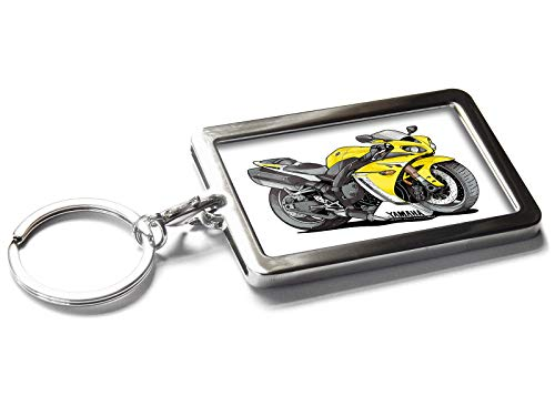 Koolart Cartoon Motorbike Yamaha R1 Metal Keyring with for sale  Delivered anywhere in USA