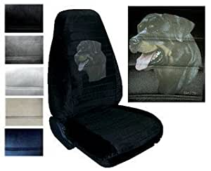 Amazon Com Seat Cover Connection Rottweiler Print 2 High