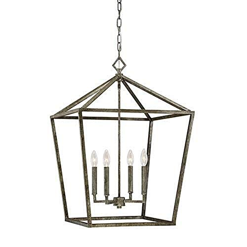 Millennium Lighting Millennium:Four 3254-AS 4-Light Pendant in Antique Silver, Pwt, Nckl, B/S, Slvr.