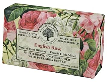 Wavertree and London English Rose Luxury Australian Natural Soap Bar 7 Ounces 4 Bars