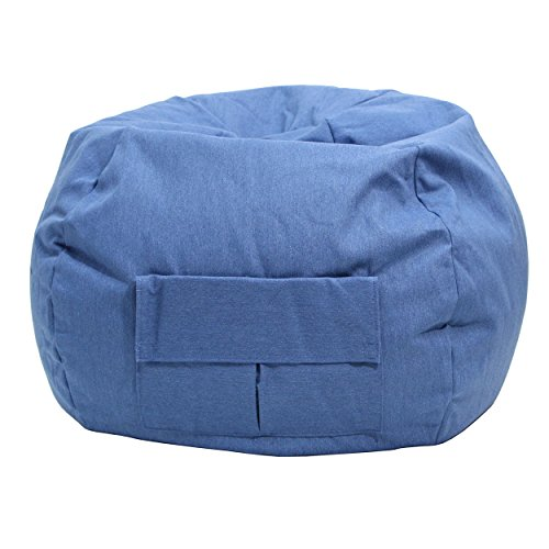 Gold Medal Bean Bags 31014084935 XX-Large Denim Bean Bag with Pocket, Blue Jean by Gold Medal Bean Bags