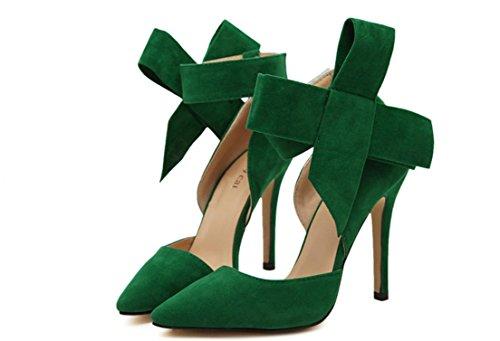 YCMDM signore delle donne scarpe Paste-tacco alto scarpe sandali moda scarpe singolo primavera-estate , green , 41