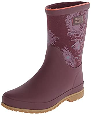 Amazon.com | Tretorn Women's Elsa Peacock Feathers Rain Shoe ...
