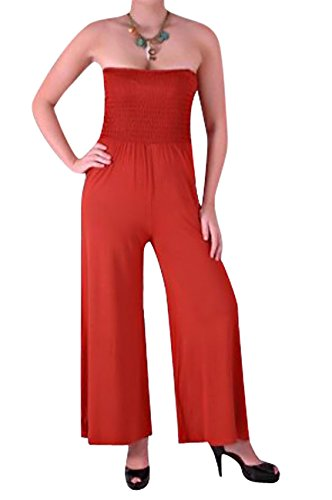 Serafina Womens Strapless Jumpsuit Palazzo Trouser Fusion Medium / Large