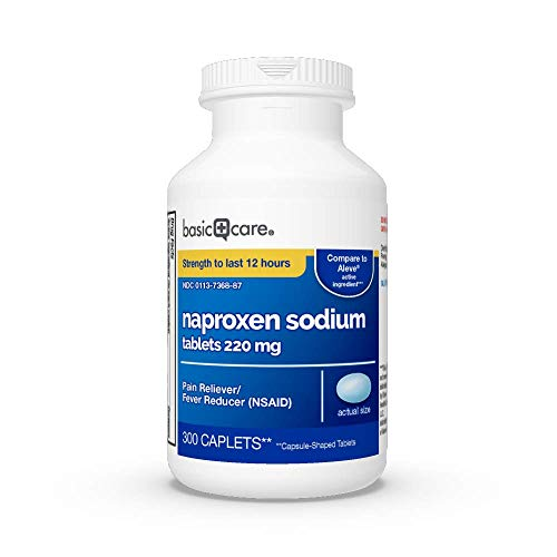 Basic Care Naproxen Sodium Tablets, 300 Count (Pack of 1)