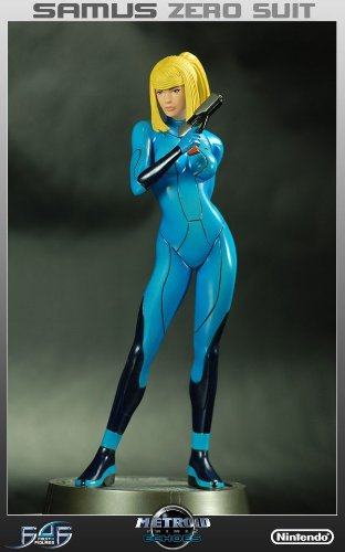 amazon com metroid prime zero suit samus 1 6 scale statue toys games