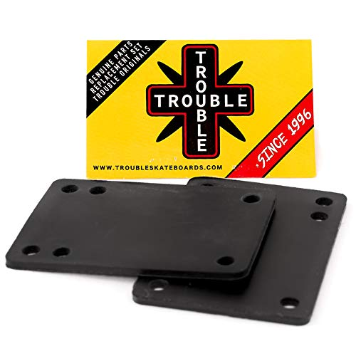 """TROUBLE SKATEBOARDS Riser Pad Rubber Risers 3mm 1/8"""" Set of 2 (R1) (3mm 1/8"""")"""