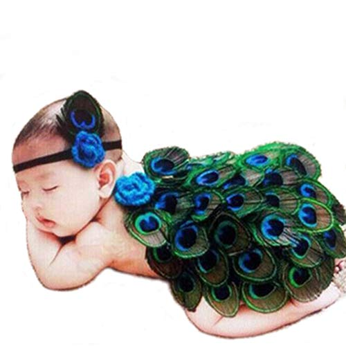 Peacock Baby Halloween Costumes - Swovo Baby Girls Outfits Cute Peacock