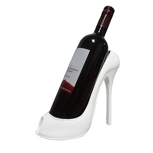 UONQD Wine Rack High Heel Shoe Bottle Holder Storage Wedding Party Decor Ornament Gift (20.5L18W1H(cm), White)