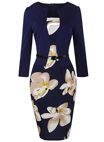 Buy below the knee length bodycon dresses - 7