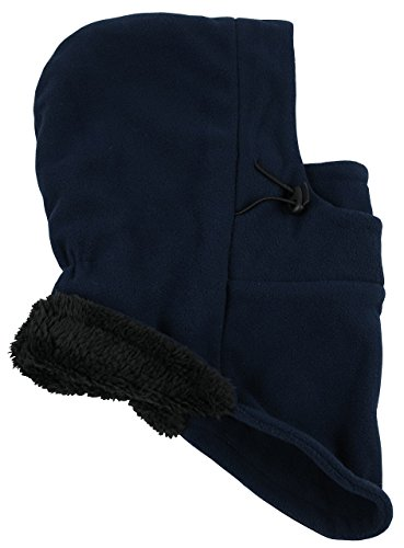 (N'Ice Caps Kids Unisex Sherpa Lined Thermal Fleece Balaclava Face Mask (4-7 Years,)
