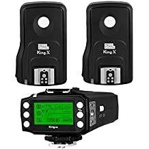Pixel King Pro Radio Flash Trigger Kit 1 Transmitter+2 Receivers 1/8000s TTL LED Screen Display for Canon Cameras and Flash Speedlite as YN622c