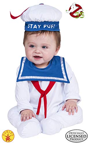 Family Halloween Costumes With A Baby (Rubie's Baby Ghostbusters Classic Stay Puft Costume Romper, As Shown,)