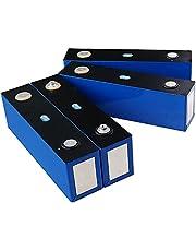 Deep Cycle Battery 4PCS Lifepo4 3.2V 161AH Battery Lithium Iron Phosphate Cell Solar DIY 12V Cells Pack Power Batteries EU Tax Free,4pcs