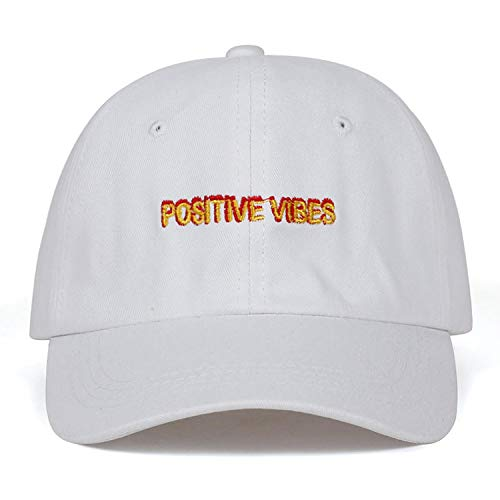 FUZE Vibes Cap Embroidery Baseball Cap Men Women Summer Dad Hat Hip-Hop Caps White