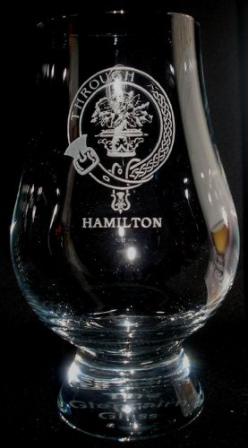 CLAN HAMILTON GLENCAIRN SINGLE MALT SCOTCH WHISKY TASTING GLASS