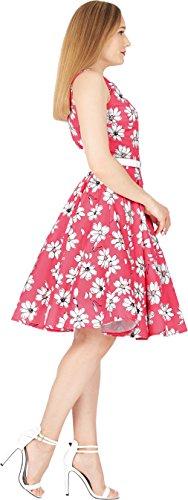 Audrey' BlackButterfly Daisy Años Vestido 50 Rosa Vintage AxwTqR