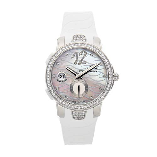Ulysse Nardin Executive Dual Time Mechanical (Automatic) Mother-of-Pearl Dial Womens Watch 243-10B-3C/691 (Certified Pre-Owned) ()