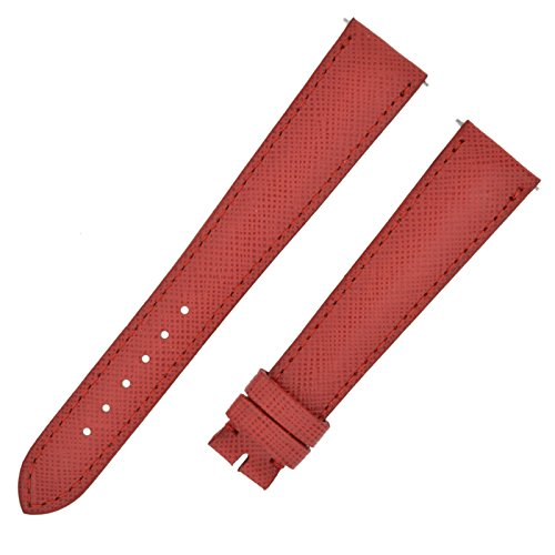 David Yurman 18-14 mm Red Crosshatch Leather Strap Band (Cross David Yurman)