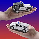 Top Race Metal Diecast Police Cars Pull Back