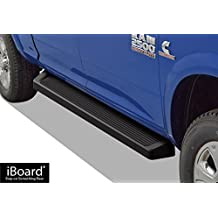 "Matte Black 6"" iBoard Running Boards Fit 09-17 Dodge Ram 1500/2500/3500 Crew Cab Nerf Bar Side Steps Tube Rail Bars"