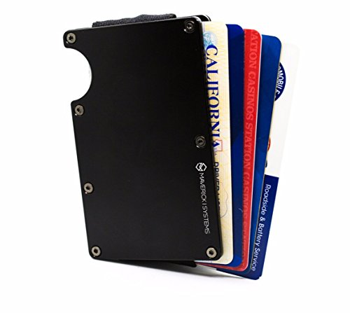 inimalist Card Holder /Travel Wallet For Credit Cards & More (Black) (Mens Credit Card Holder)