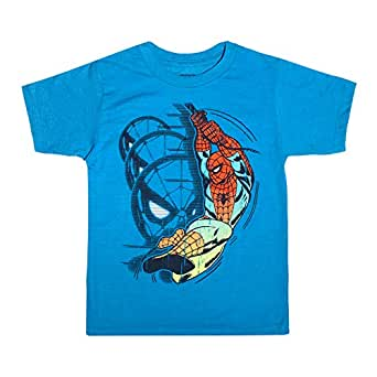 Marvel Spiderman Amazing Spider-Man Toddler Little Boys T-Shirt, Blue Heather, 2T