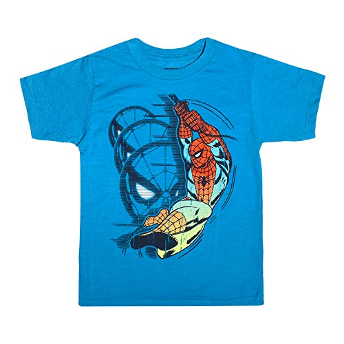 Spiderman Clothes For Boy (Marvel Spiderman Amazing Spider-Man Toddler Little Boys T-Shirt, Blue Heather,)