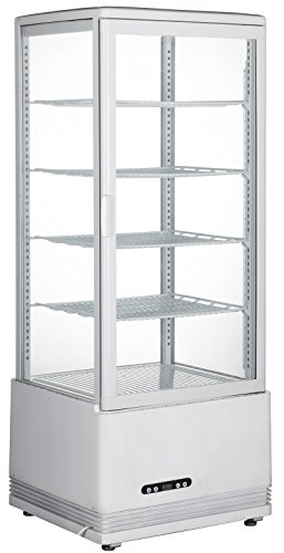 (TECHTONGDA Commercial Refrigerator Cake Display Case Pie Beverage Refrigerated Cabinet Showcase 110V 35.6-53.6 F)