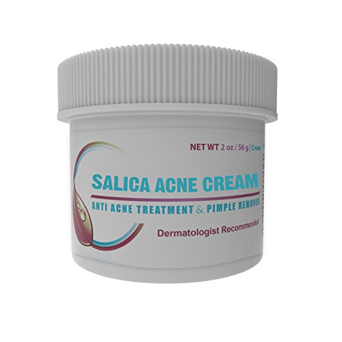 Salica Acne Treatment Cream - Topical Anti Acne Medication with Salicylic Acid and Tea Tree Oil - Get Rid of Acne Scars, Pimples, Cystic Acne and Blackheads.