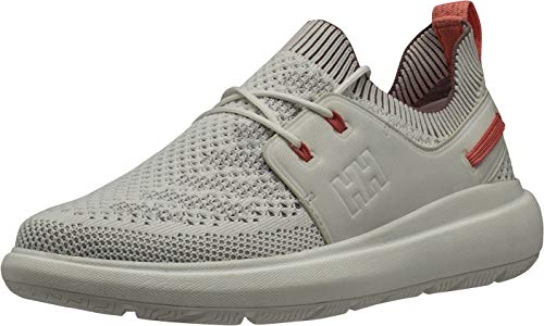 Helly Hansen Women's Spright One Sailing Deck Shoe, Off White/Penguin/Fusion Coral, 7.5