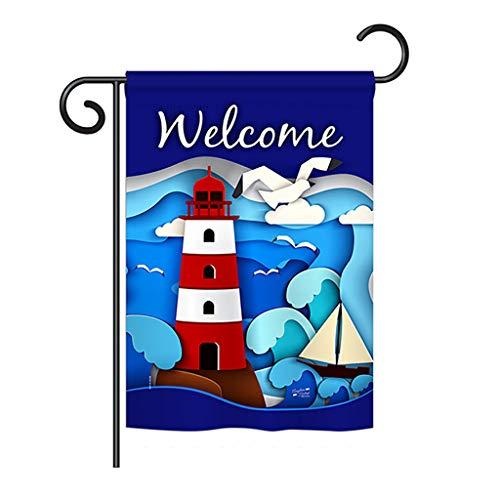 Angeleno Heritage G135077 Coastal Nautical Decorative Vertical Garden Flag, 13