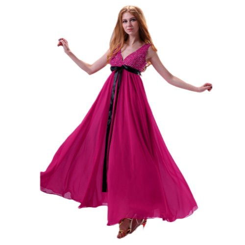Ruban Mousseline De V Col Lemandy Fuchsia Robe Avec Cocktail tSwqR0Tf