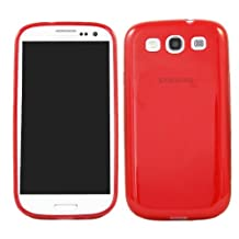 Samsung i9300 Galaxy S3 III Red Flexible & Durable Soft TPU Gel Skin Case Protective Jelly Cover For Samsung i9300 Galaxy S3 III