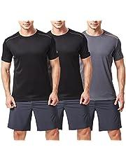 TEXFIT Men's 3 Pack Active Sport Quick Dry Panelled T-Shirts (3 pcs Set)