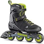 Rollerblade Zetrablade Elite Men's Adult Fitness Inline Skate, Black and Lime, Performance Inline Sk