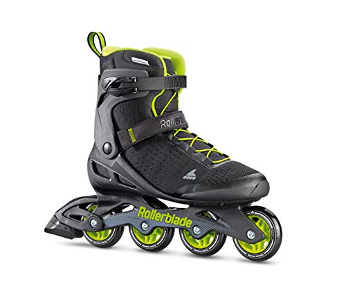 Rollerblade Zetrablade Elite Men's Adult Fitness Inline Skate, Black and Lime, Performance Inline Skates (Elite In Line Skates)