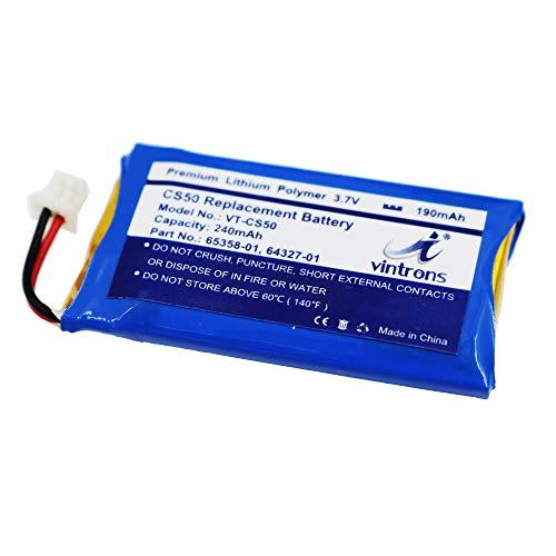VINTRONS, Plantronics CS50 Battery, 65358-01, 64327-01, 64399-01, Battery for Plantronics CS50, CS55, CS60, Savi 710, Savi W720, 65358-01, 64327-01, 64399-01,