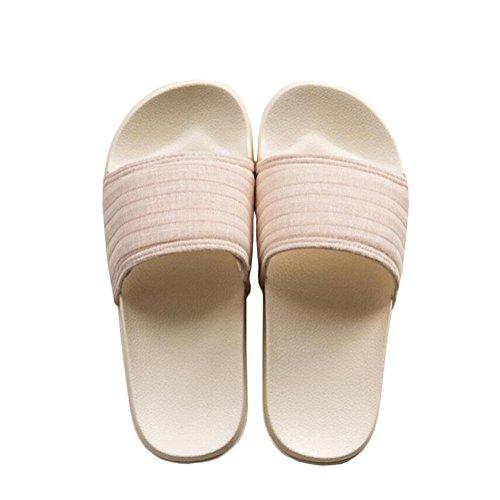Slipper Unisexe Pour Bains Douche Indoor Salle Maison Bain Chaussures Chaussures Hommes Femmes De Natation Plancher Sandale et De beige Pantoufles Slide wq7OqxY