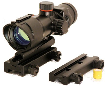 Guarder/Action Full Metal Illuminated 1x30 Red/Green Dot Scope With Weaver And 3/8