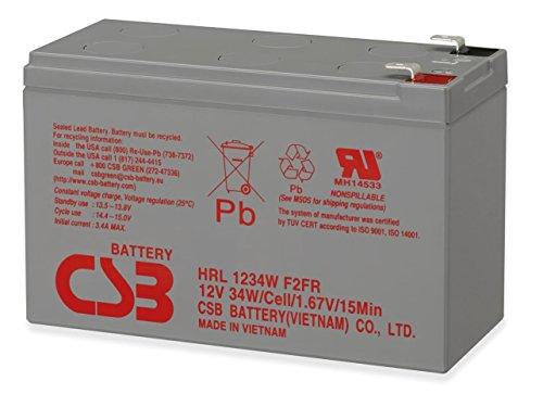 Price comparison product image CSB 12V 9Ah 34W Long Life Sealed Lead Acid Battery HRL1234WF2