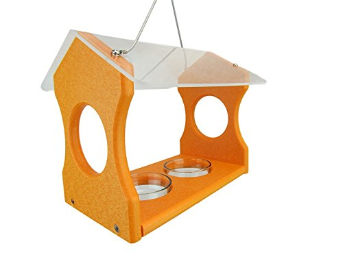 JCs Wildlife Nature Products USA Orange Oriole Poly Lumber Bird Feeder (Wildlife Natures Bird)