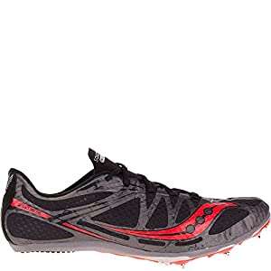 Saucony Men's Ballista Track Spike Racing Shoe, Black/Red, 11.5 M US