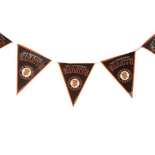 fan products of Major League Baseball Licensed San Francisco Giants Pennant Banner Party Decoration, Plastic , 12'